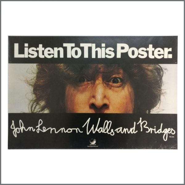 B27505 - John Lennon 1974 Walls And Bridges Listen To This Apple Promotional Poster (USA)