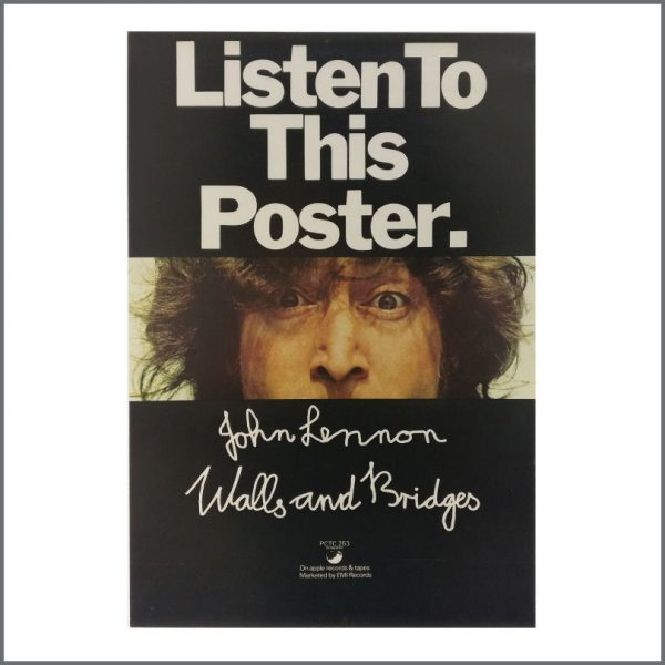 B27506 - John Lennon 1974 Walls And Bridges Listen To This Apple Promotional Poster (UK)