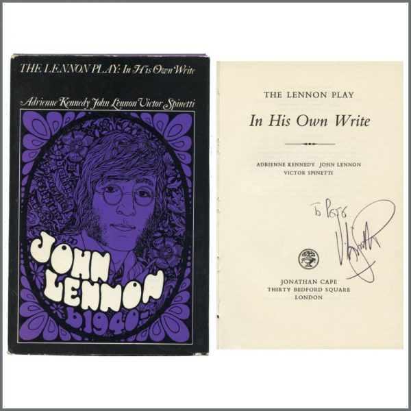 B27507 - Victor Spinetti Autographed John Lennon 1960s In His Own Write Hardback Book (UK)