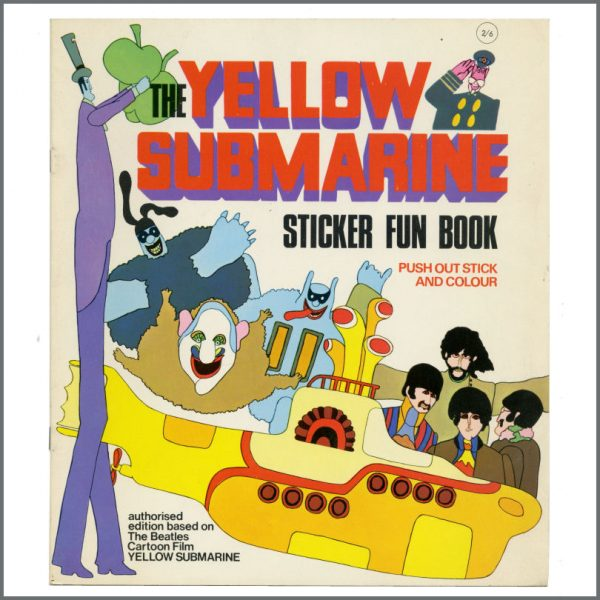B27510 - The Beatles 1968 Yellow Submarine Sticker Fun Book (UK)