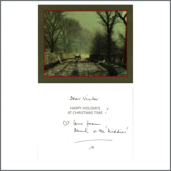 B27516 - Paul McCartney Handwritten Christmas To Victor Spinetti (UK)