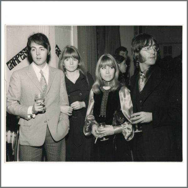 B27545 - John Lennon & Paul McCartney 1968 Grapefruit Party Vintage Photograph (UK)