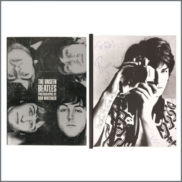 B27565 - The Beatles 1991 The Unseen Beatles Bob Whitaker Signed Book (UK)