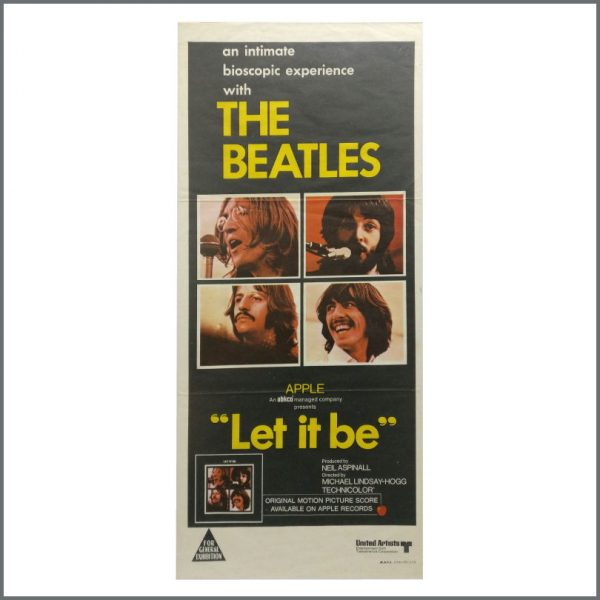 B27568 - The Beatles 1970 Let It Be United Artists Daybill Promotional Poster (Australia)