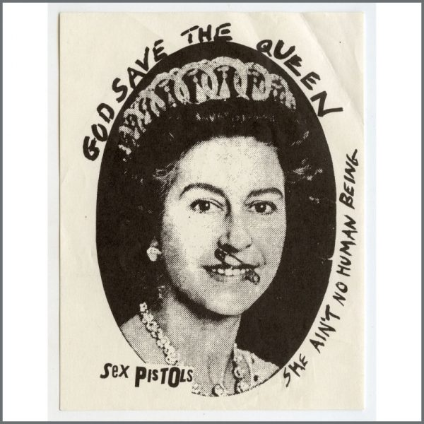 B27574 - Sex Pistols 1977 God Save The Queen Promotional Sticker (UK)