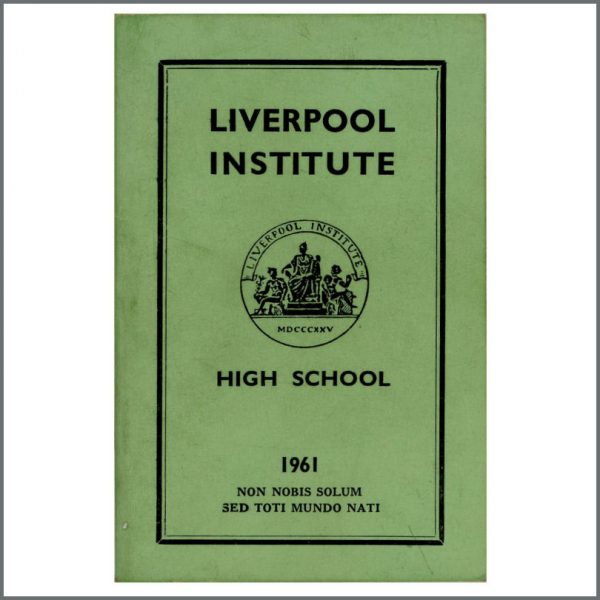 B27580 - Paul McCartney & George Harrison Related 1961 Liverpool Institute Green Book (UK)