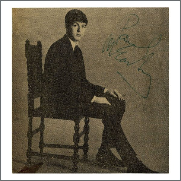B27585 - Paul McCartney 1963 Autographed Newspaper Page (UK)
