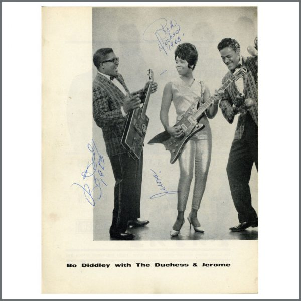 B27586 - Bo Diddley, The Duchess And Jerome 1963 Autographs (UK)