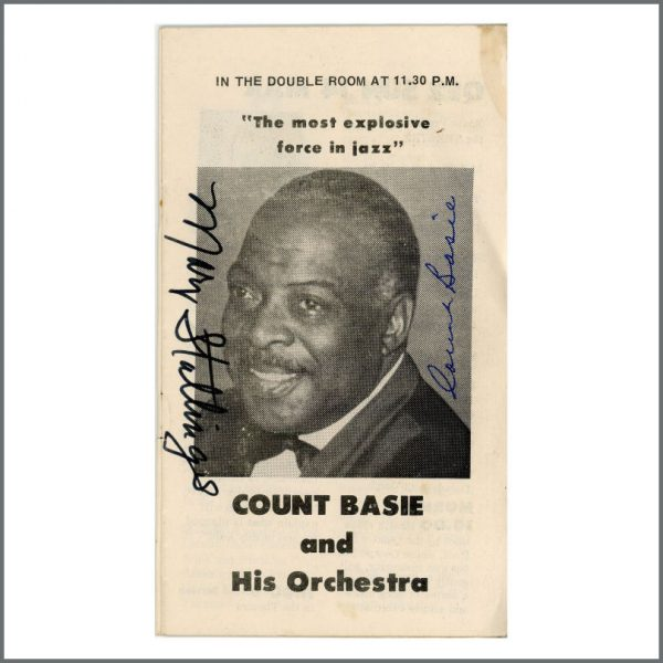 B27588 - Count Basie & Mary Stallings 1971 Autographed QE2 Programme