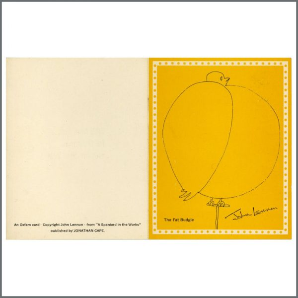 B27590 – The Beatles John Lennon Designed Oxfam 1960s Christmas Card (UK) 1