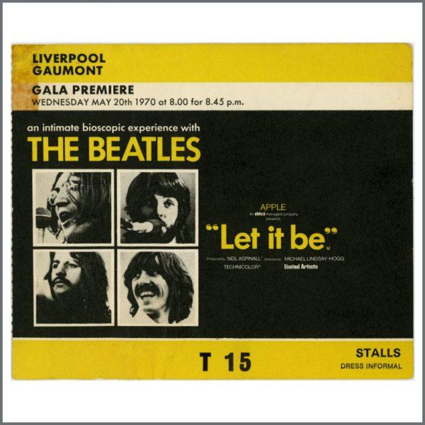 B27593 - The Beatles 1970 Let It Be Premiere Ticket Stub (UK)