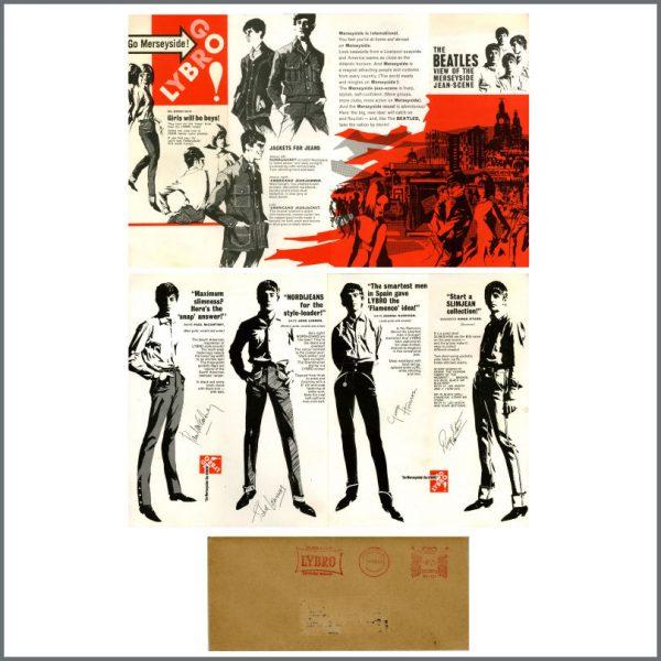 B27595 - The Beatles 1963 Lybro Jeans Promotional Flyer (UK)