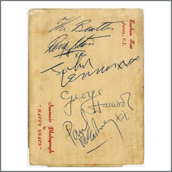 B27597 - The Beatles 1963 Jersey Autographs (Channel Islands)