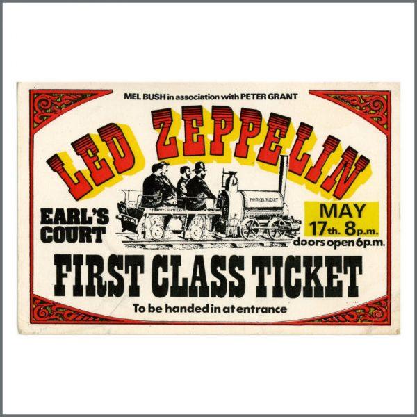 B27599 - Led Zeppelin 1975 Earls Court Backstage Pass (UK)