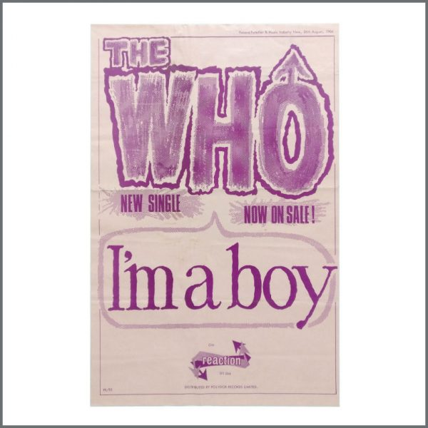 B27609 - The Who 1966 I'm A Boy Reaction Promotional Poster (UK)