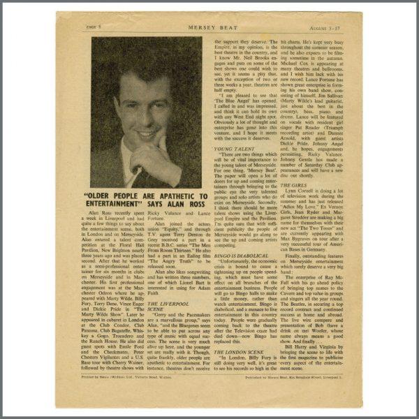 B27611 – The Beatles 1961 Mersey Beat Newspaper Volume 1 Number 3 (UK) 3