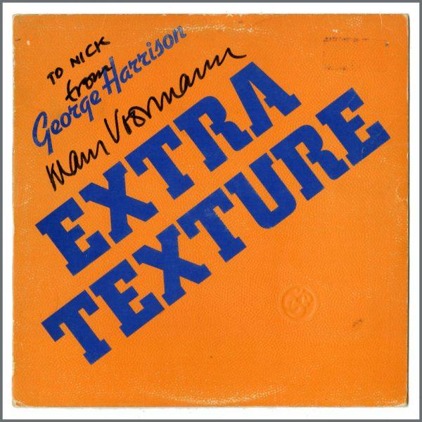 B27624 - George Harrison Klaus Voormann Autographed Extra Texture Album