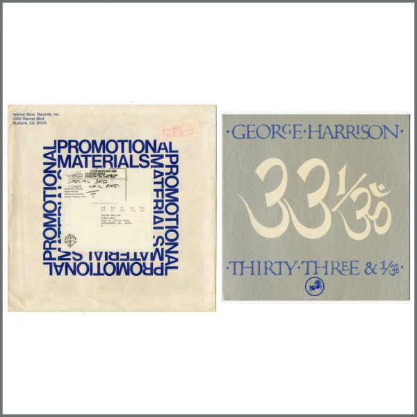 B27626 - George Harrison 1976 Thirty Three & 1/3 Promotional Shop Display (USA)