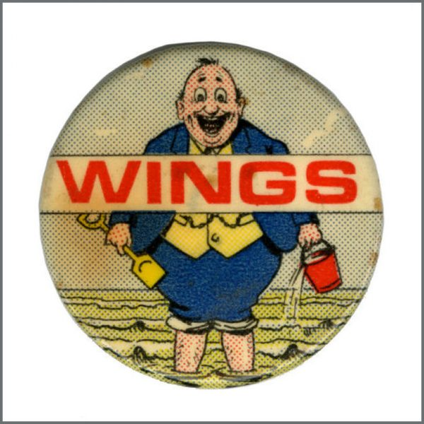 B27644 - Paul McCartney 1973 Wings Fatman UK Tour Promotional Pin Badge (UK)