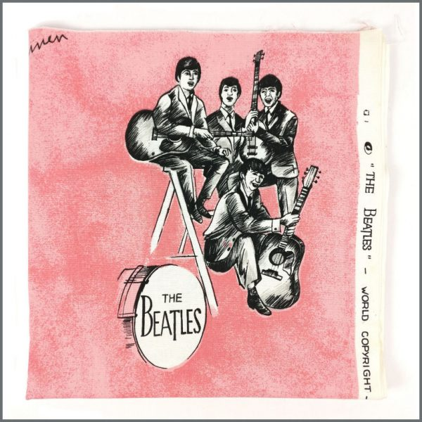 B27657 - The Beatles 1960s Pink Curtain Material (Netherlands)