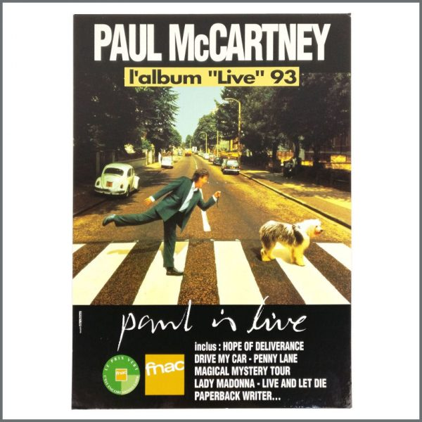 B27674 - Paul McCartney 1993 Paul Is Live Promotional Shop Display (France)