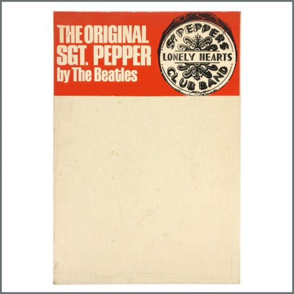 B27675 - The Beatles 1970s Sgt Pepper's Lonely Hearts Club Band Promotional Shop Display