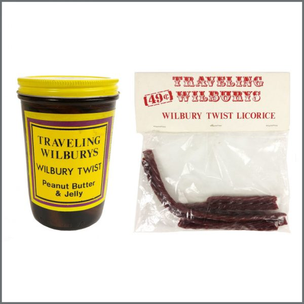 B27679 - Traveling Wilburys 1990 Wilbury Twist Licorice & Peanut Butter & Jelly Jar (USA)