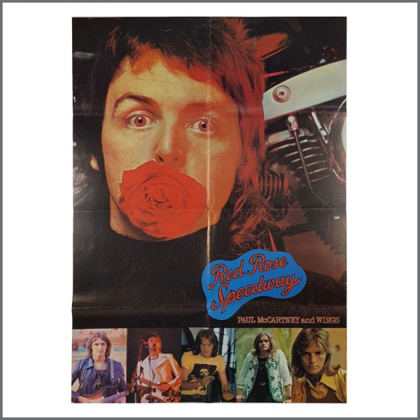 B27702 - Paul McCartney 1973 Wings Red Rose Speedway Promotional Poster (UK)
