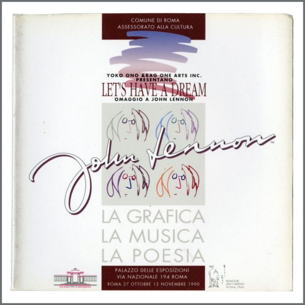 B27708 - John Lennon 1990 Let's Have A Dream Exhibition Book (Italy)