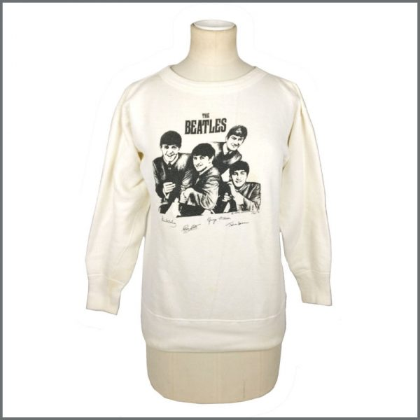 B27715 – The Beatles 1964 White Merchandising Sweatshirt (USA) 1
