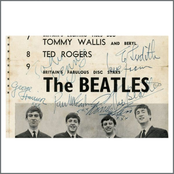 B27765 – The Beatles 1963 Autographed Great Yarmouth Concert Programme (UK) 3