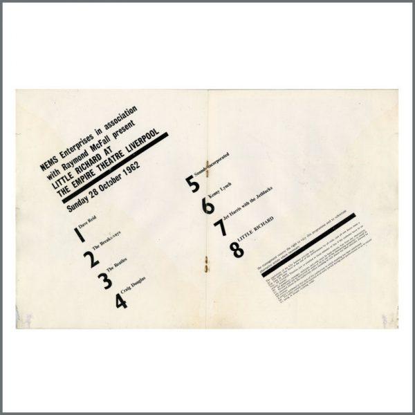 B27767 – The Beatles/Little Richard 1962 Liverpool Empire Concert Programme (UK) 2
