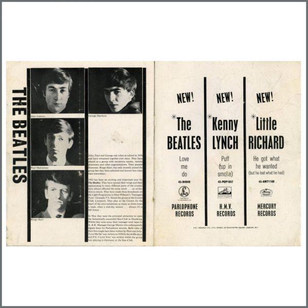 B27767 – The Beatles/Little Richard 1962 Liverpool Empire Concert Programme (UK) 3
