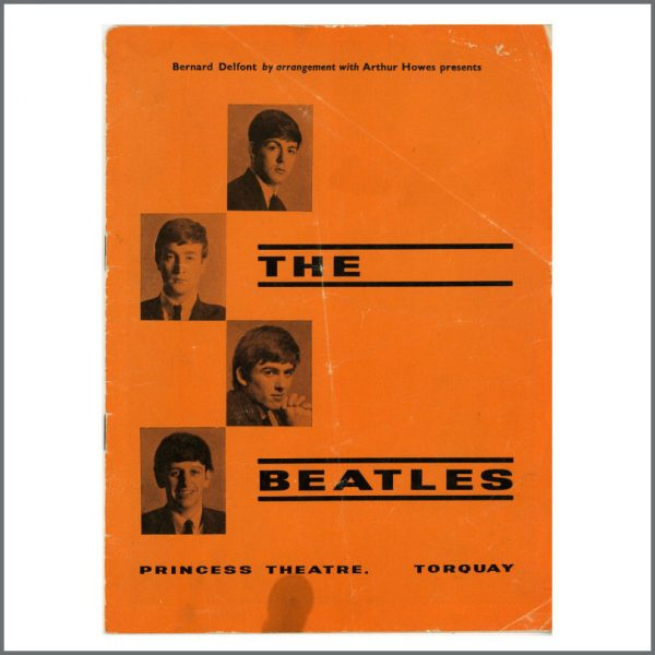 B27768 - The Beatles 1963 Torquay Concert Programme (UK)
