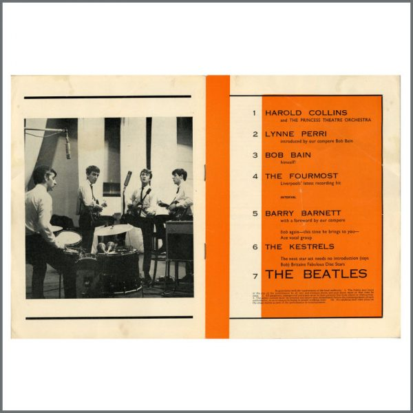 B27768 – The Beatles 1963 Torquay Concert Programme (UK) 2