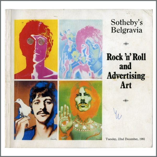 B27840 - The Beatles 1981 Sotheby's First Auction Catalogue (UK)