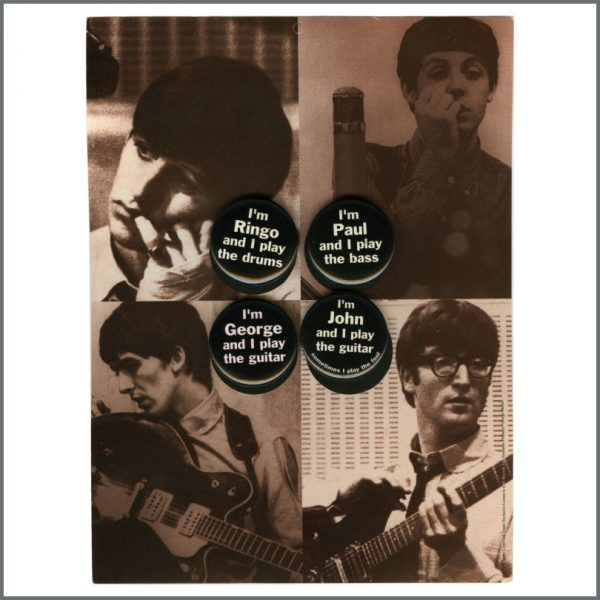 B27862 - The Beatles 1995 Live At The BBC Capitol Records Promotional Pin Badges (USA)