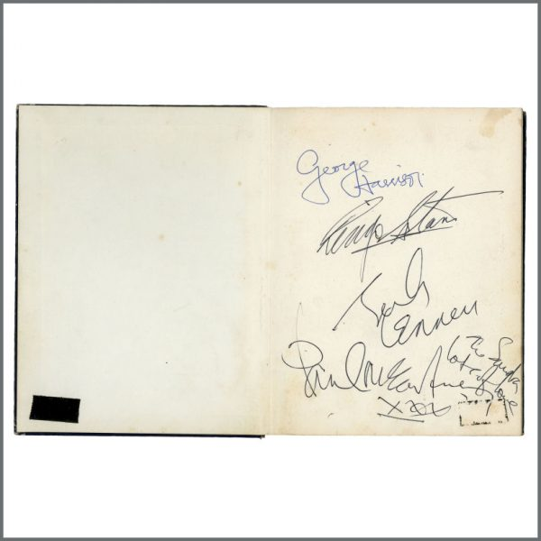 B27936 - The Beatles 1964 Autographed John Lennon In His Own Write Sydney (Australia)