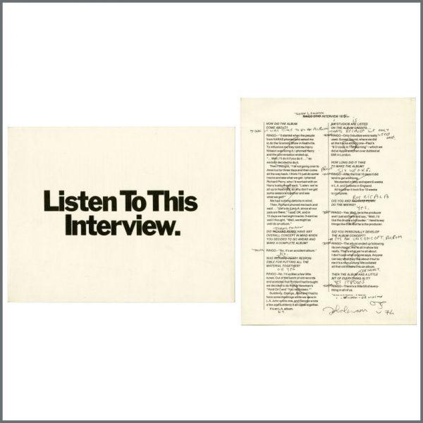 B27937 - John Lennon 1974 Walls & Bridges Interview Leaflet (UK)