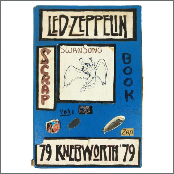B27948 - Led Zeppelin 1970s/1980s Knebworth Festival Original Scrapbook (UK)