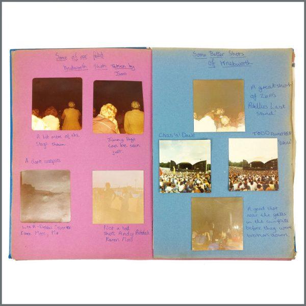 B27948 – Led Zeppelin 1970s/1980s Knebworth Festival Original Scrapbook (UK) 2