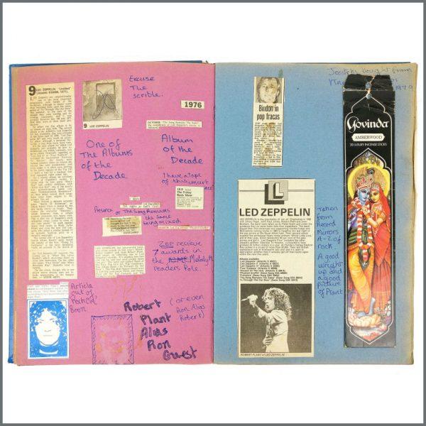 B27948 – Led Zeppelin 1970s/1980s Knebworth Festival Original Scrapbook (UK) 3