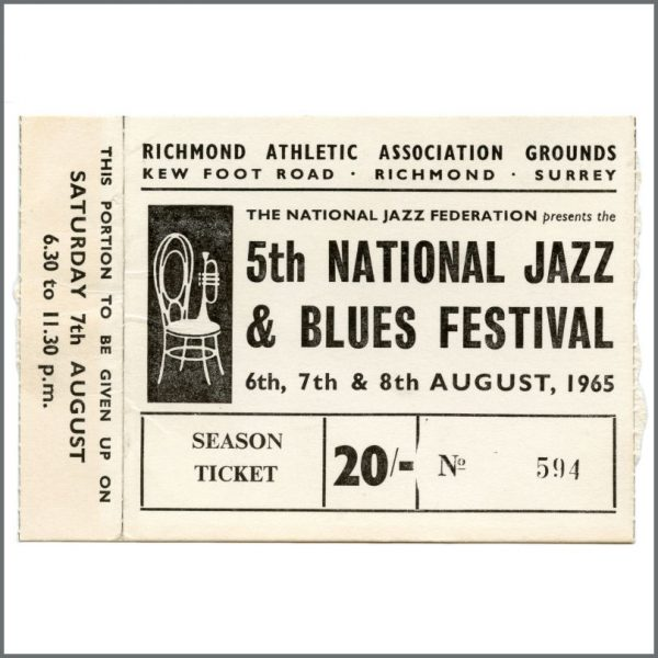 B27956 - The Who 1965 National Jazz & Blues Festival Concert Ticket Stub (UK)