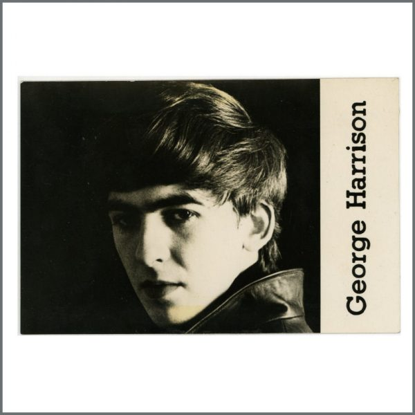B27988 - The Beatles 1962 George Harrison Astrid Kirchherr Promotional Card (UK)