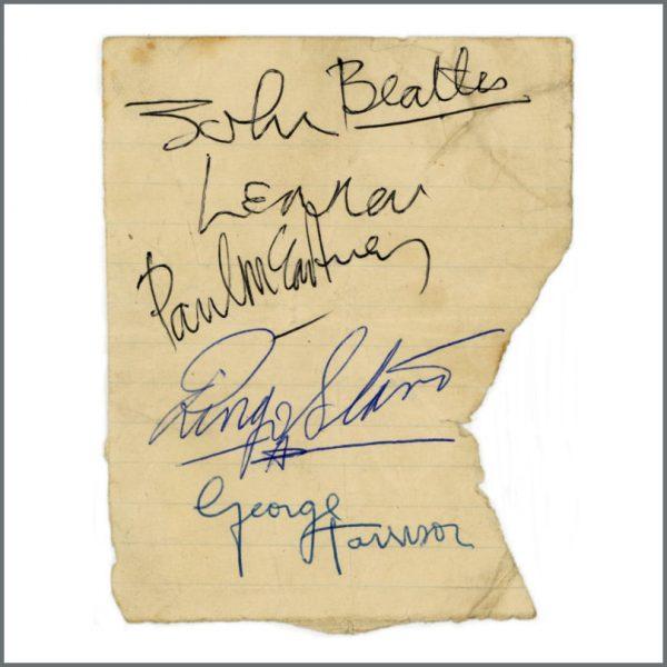 B28002 - The Beatles 1963 Harrogate Autographs (UK)