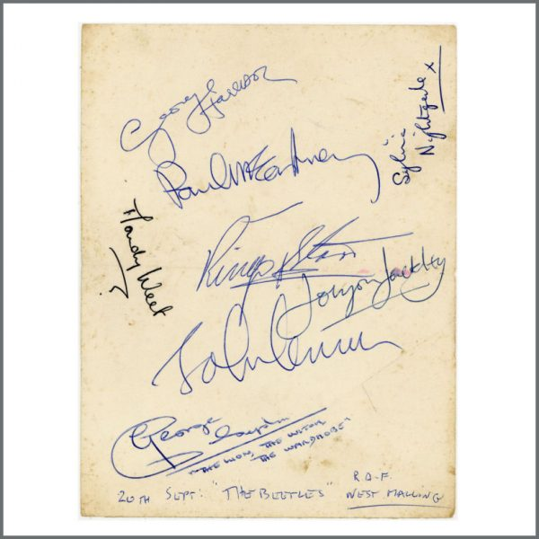 B28017 - The Beatles 1967 West Malling Airfield Autographs (UK) - £OFFERS