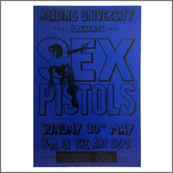 B28034 - The Sex Pistols 1976 Reading University Concert Poster (UK) - £OFFERS