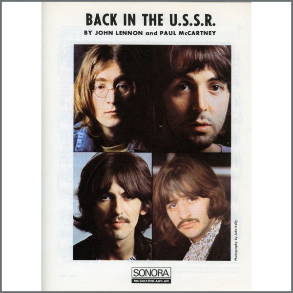 B25590 - The Beatles 1968 Back In The U.S.S.R Sonora Sheet Music (Scandinavia)