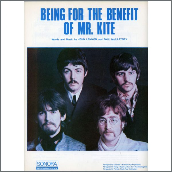 B25574 - The Beatles 1967 Being For The Benefit Of Mr. Kite Sonora Sheet Music (Scandinavia)