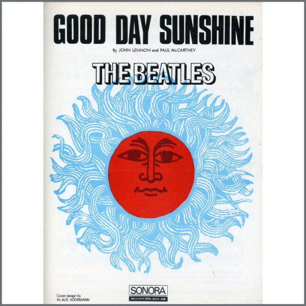 B25585 - The Beatles 1966 Good Day Sunshine Sonora Sheet Music (Scandinavia)
